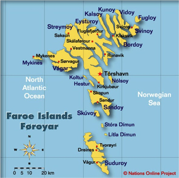 map faroe islands